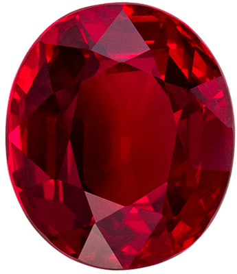 Lovely GRS Certified Ruby Genuine Gem, 2.36 carats, Open Pigeons Blood Red, Oval Cut, 8.26 x 7.1 x 4.48 mm