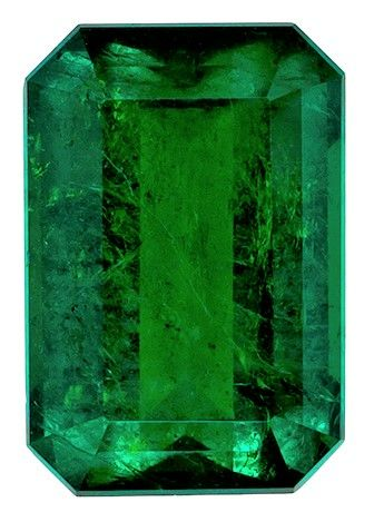 Natural Emerald Gemstone, 2.39 carats, Emerald Cut, 9.7 x 6.6 mm, Great Looking Stone