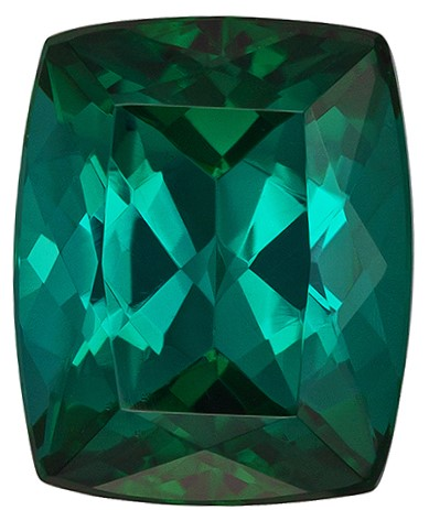 Loose Genuine Blue Green Tourmaline Loose Gemstone, 2.42 carats, Cushion Cut, 8.7 x 7.1  mm , Amazing Low Price