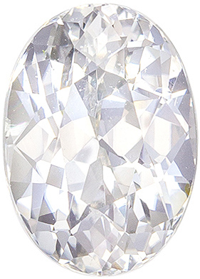 Attractive No Heat GIA Certified Sapphire Genuine Gem, 2.43 carats, Colorless White, Oval Cut, 9.08 x 6.44 x 5.12 mm