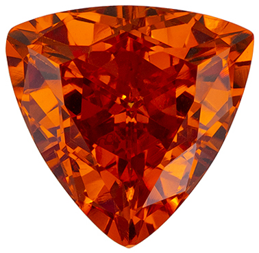 Faceted 2.44 carat Orange Spessartite Gemstone in Trillion Cut 8.5 mm