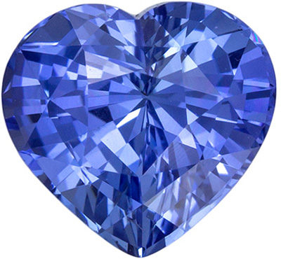 Wonderful Sapphire Genuine Gem, 2.47 carats, Rich Cornflower Blue, Heart Cut, 8.1 x 7.7mm