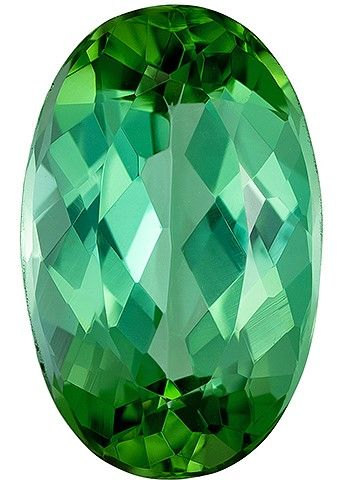 Natural Blue Green Tourmaline Gemstone, 2.48 carats, Oval Cut, 10.6 x 6.7 mm, Great Looking Stone