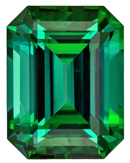 Must See Blue Green Tourmaline Genuine Gem, 2.5 carats, Emerald Cut, 8.8 x 6.7  mm , Amazing Low Price