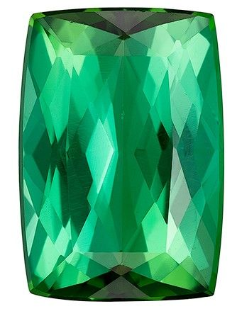 Loose Blue Green Tourmaline Gemstone, 2.51 carats, Cushion Cut, 10.2 x 7.1 mm, A Beauty of a Gem