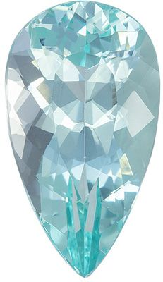 Appealing Green Beryl Loose Gemstone, Seafoam Blue Green, Pear Cut, 12.9 x 7.2 mm, 2.51 carats
