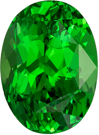 Great Price of Fine Green Tsavorite Garnet 2.54 carats, Oval shape gemstone, 9 x 6.6  mm