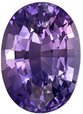 2.56 Carat Purple Sapphire Gemstone in 9.3 x 6.7 mm, 2.56 carats - GIA Certified Oval Cut