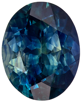 Very Popular 2.61 carat Teal Blue Green Sapphire in Oval Cut, 9.0 x 7.1mm