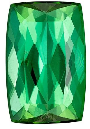Heirloom Blue Green Tourmaline Gemstone, 2.63 carats, Cushion Cut, 10.5 x 6.8 mm, Great Deal on This Gem