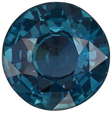 Highly Requested Sapphire Quality Gem, 8.1 mm, Teal Blue Green, Round Cut, 2.65 carats