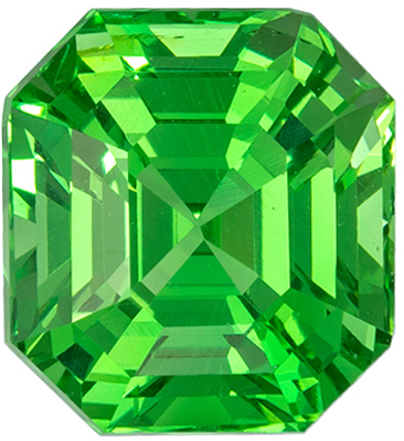 Very Attractive Tsavorite Loose Gem, 7.8 x 7.2mm, Minty Green, Emerald Cut, 2.68 carats