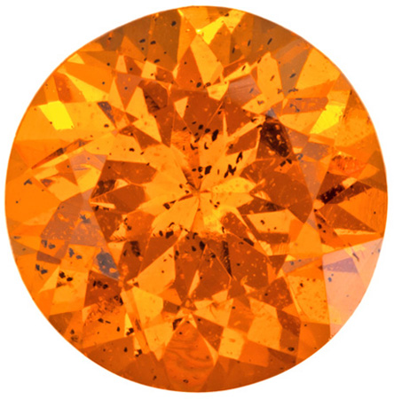 2.69 carats Orange Spessartite Loose Gemstone Round Cut, Open Medium Orange, 8.3 mm