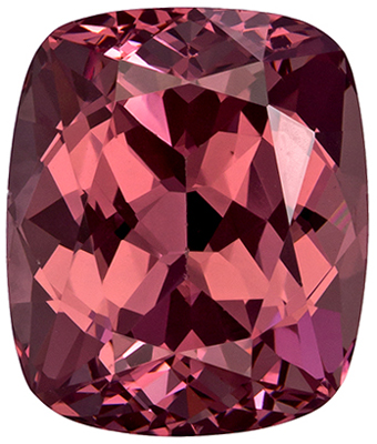 2.7 carats Rose Garnet Loose Gemstone in Cushion Cut, Peachy Copper, 8.2 x 6.9 mm