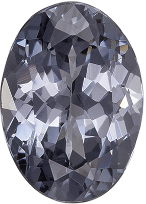 Attractive Spinel Quality Gem, 2.7 carats, Platinum Gray, Oval Cut, 9.9 x 7mm