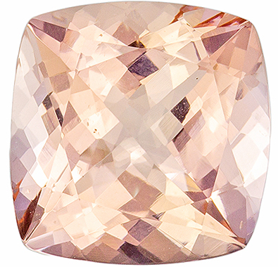 2.72 carats Morganite Loose Gemstone Cushion Cut, Medium Peach, 9 mm