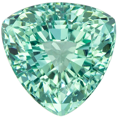 Beautiful 2.73 carats Greenish Bluish Tourmaline Trillion Genuine Gemstone, 8.9 mm