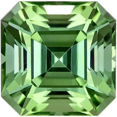 Stunning Minty Bluish Green 2.78 carat Asscher Cut Tourmaline Gem in 7.7mm Size