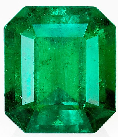 2.81 carats Emerald Loose Gemstone in Emerald Cut, Rich Green, 9.1 x 8 mm