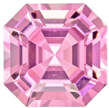 Genuine Pink Tourmaline Loose Gemstone, 2.81 carats, Emerald Cut, 8.3 x 8.3  mm , Gemmy Low Cost Stone