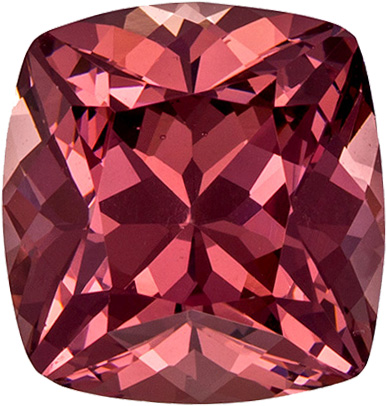 2.83 carats Rose Garnet Loose Gemstone in Cushion Cut, Rose Berry, 8.1 x 7.7 mm