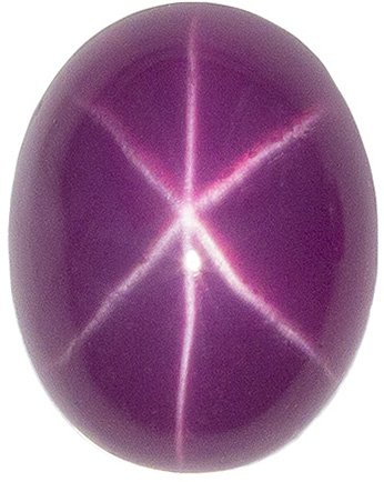 2.84 carats Gorgeous Star Ruby in Attractive Pinkish Red Color in 7.9 x 6.2 mm Cabachon Oval Gem