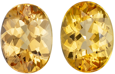 Natural 2.86 carat Precious Topaz Matched Pair of Gemstones in Oval Cut 8 x 6 mm