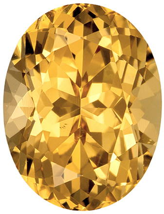 2.87 carats Precious Topaz Loose Gemstone in Oval Cut, Golden Peach, 9.8 x 7.5 mm