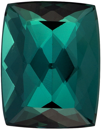 2.92 carats Blue Green Tourmaline Loose Gemstone Cushion Cut, Medium Blue Green, 9.8 x 7.6 mm