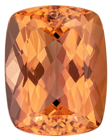 Loose Genuine Imperial Topaz Genuine Stone, 2.93 carats, Cushion Cut, 9.1 x 7.1  mm , Gemmy Low Cost Stone