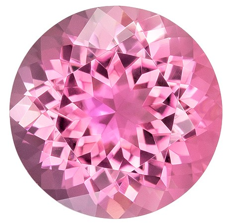 Low Price Pink Tourmaline Genuine Gemstone, 2.95 carats, Round Cut, 9.5 mm , Must See This Gemstone