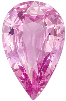 Lovely Rare GIA Certified Sapphire Quality Gem, 2.98 carats, Pure Baby Pink, Pear Cut, 11.86 x 7.52 x 4.65 mm