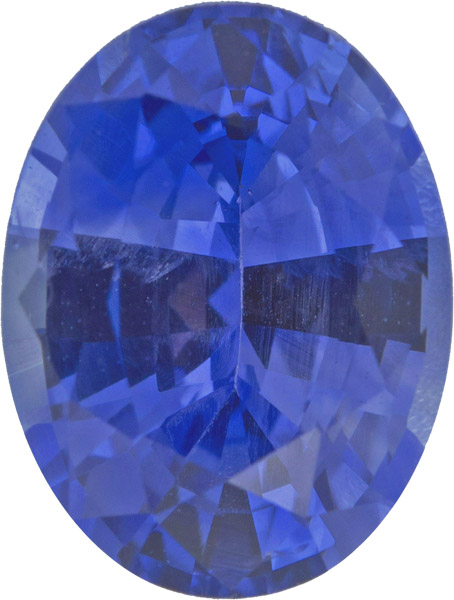 2.0 carat AGL Certified Unheated Gorgeous Blue Sapphire Loose Gem in Oval Cut, 8.5 x 6.7 mm