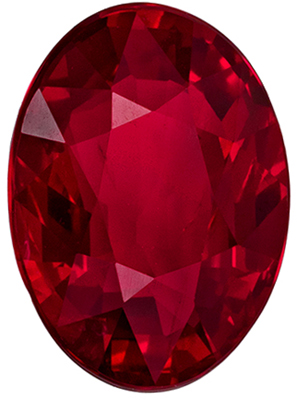 Gorgeous Unheated Oval Shape Red Ruby Gemstone, 2 carats, Pigeon's Blood Red, 8.76 x 6.4 x 3.94 mm, GRS Certified