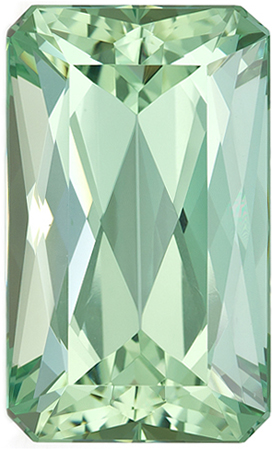 21.6 x 13 mm Green Beryl Genuine Gemstone in Emerald Cut, Seafoam Blue Green, 19.56 carats