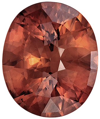 Beautiful Zircon Natural Gem, 17.7 x 14.9mm, Rich Coppery Brown, Oval Cut, 24.55 carats