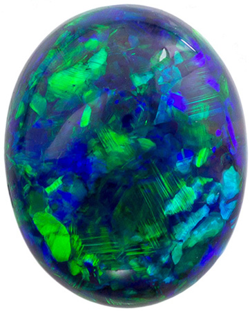 3.02 carats Black Opal Loose Gemstone Oval Cut, Dark Background, Vibrant Color Flashes, 11.1 x 9 mm