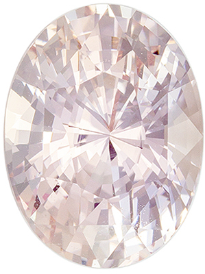 Desirable No Heat GIA Certified Sapphire Genuine Gem, 3.02 carats, Light Orangey Peach, Oval Cut, 9.55 x 7.21 x 5.84 mm