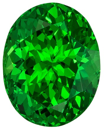 3.03 carats Tsavorite Loose Gemstone in Oval Cut, Vivid Rich Green, 9.3 x 7.3 mm