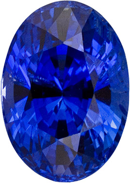Classic 3.04 carats Blue Sapphire Oval Genuine Gemstone, 9.22 x 6.62 x 6.04 mm
