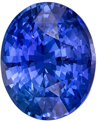 Attractive Untreated GIA Certified Sapphire Natural Gem, 3.04 carats, Vivid Medium Blue, Oval Cut, 9.56 x 7.69 x 5.25 mm