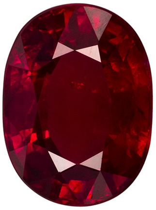 3.04 carats - GIA Certified Ruby Loose Gem, Rich Pure Red Color in 9.3 x 6.9 mm Oval Stone