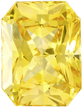 Gorgeous Unheated Radiant Cut Yellow Sapphire Gem, 9.05 x 6.92 x 5.07 mm, Intense Pure Yellow Color, 3.04 carats, GIA Certified