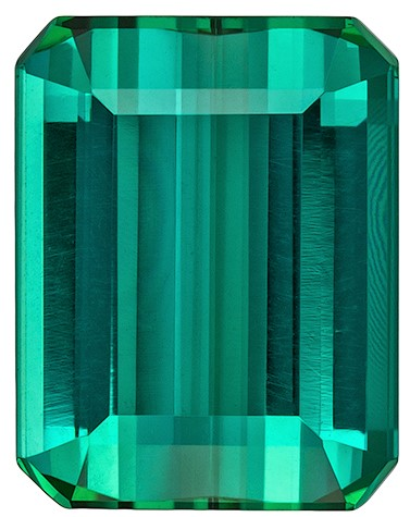 Terrific Buy on Blue Green Tourmaline Gemstone, 3.07 carats, Emerald Cut, 9.4 x 7.3  mm , Great Low Price