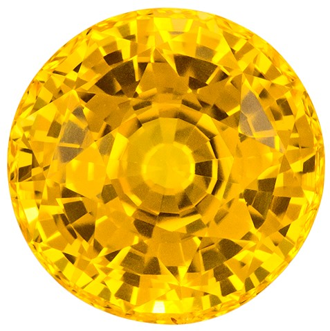 Faceted Yellow Sapphire Gemstone, Round Cut, 3.09 carats, 8 mm , AfricaGems Certified - A Wonderful Find!