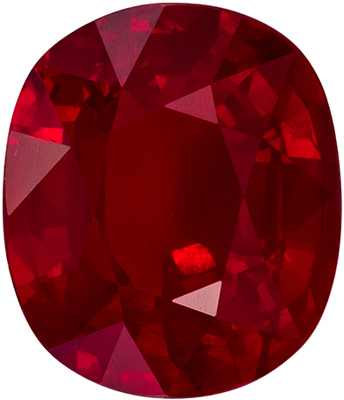 Lovely Rare GRS Certified Ruby Quality Gem, 9.22 x 7.91 x 4.74 mm, Rich Pigeons Blood Red, Cushion Cut, 3.09 carats