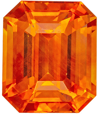Sunkist Orange Sapphire Gem in 3.12 carat Size, GIA Certificate Stunning Color Perfect