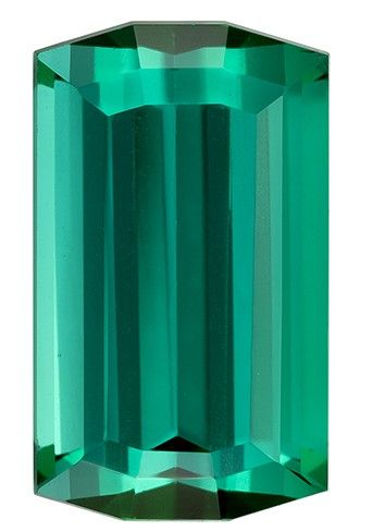 Quality Blue Green Tourmaline Gemstone, 3.13 carats, Emerald Cut, 10.9 x 6.5 mm, Must See This Gem
