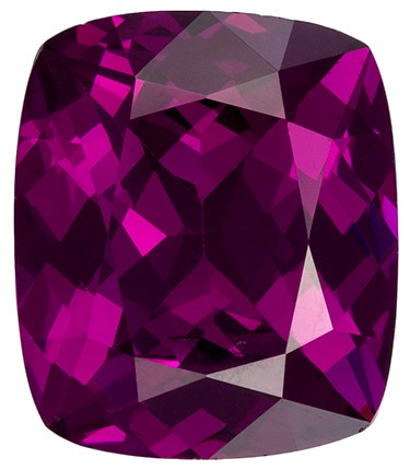Great Deal on Purple Garnet Genuine Gemstone, 3.15 carats, Cushion Cut, 9.5 x 8  mm , Super Low Price