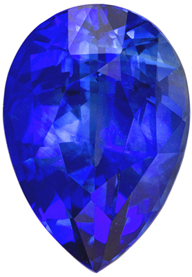 Hard to Find Sapphire Genuine Gem, 3.16 carats, Medium Rich Blue, Pear Cut, 10.1 x 7.2mm